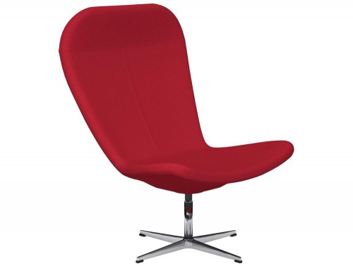 Twist 4-Star Base Swivel Armchair E090 Red