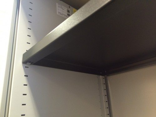 Steelcase™ Tambour door storage unit adjustable shelves