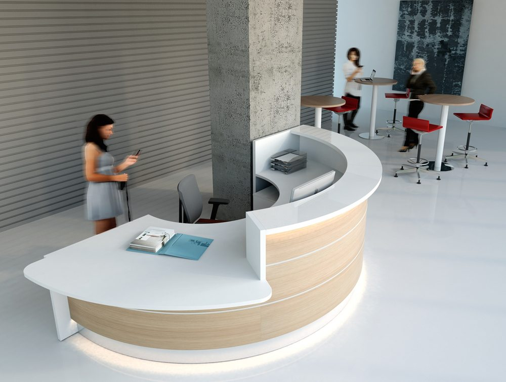 Valde Reception Desk Custom Designed Reception Counter