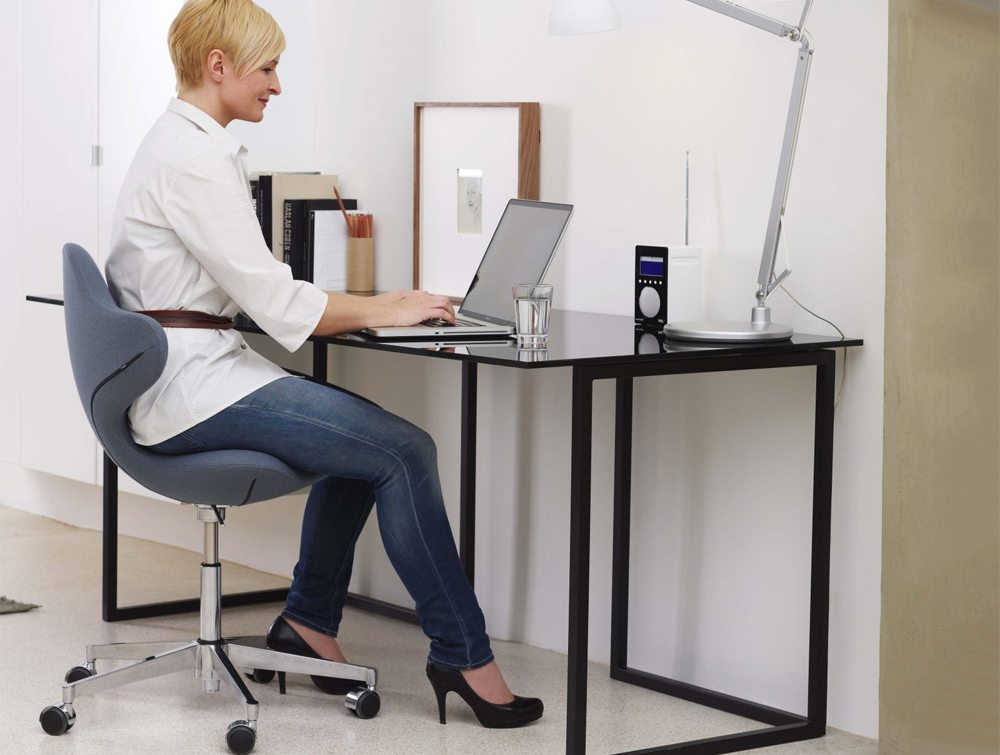 Varier Active Office Ergonomic Chair with user