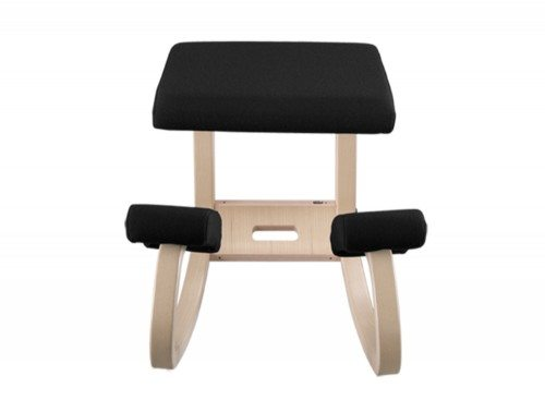 Varier Balans Kneeling Chair in Natural lacquered Ash Front Angle