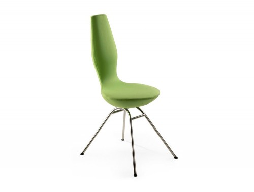 Varier-Date-Chair-with-Green-Fabric-and-Chrome-Metal-Frame