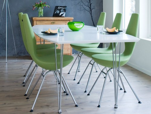 Varier-Date-Chair-with-Green-Fabric-and-Chrome-Metal-Frame-in-Canteen