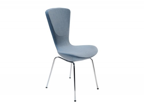 Varier-Invite-Chair-with-Blue-Fabric-Seat-and-Chrome-Metal-Frame