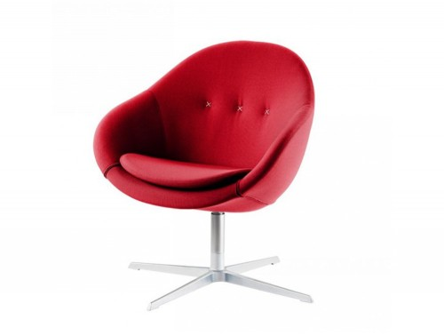 Varier-Kokon-Club-Chair-in-Red-with-Chrome-4-Star-Base