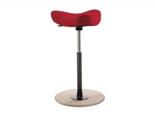 Varier Move Sit-Stand Stool in red