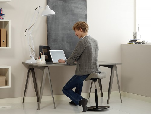 Varier-Move-Small-Sit-Stand-Stool-with-Grey-Seat-and-Black-Base