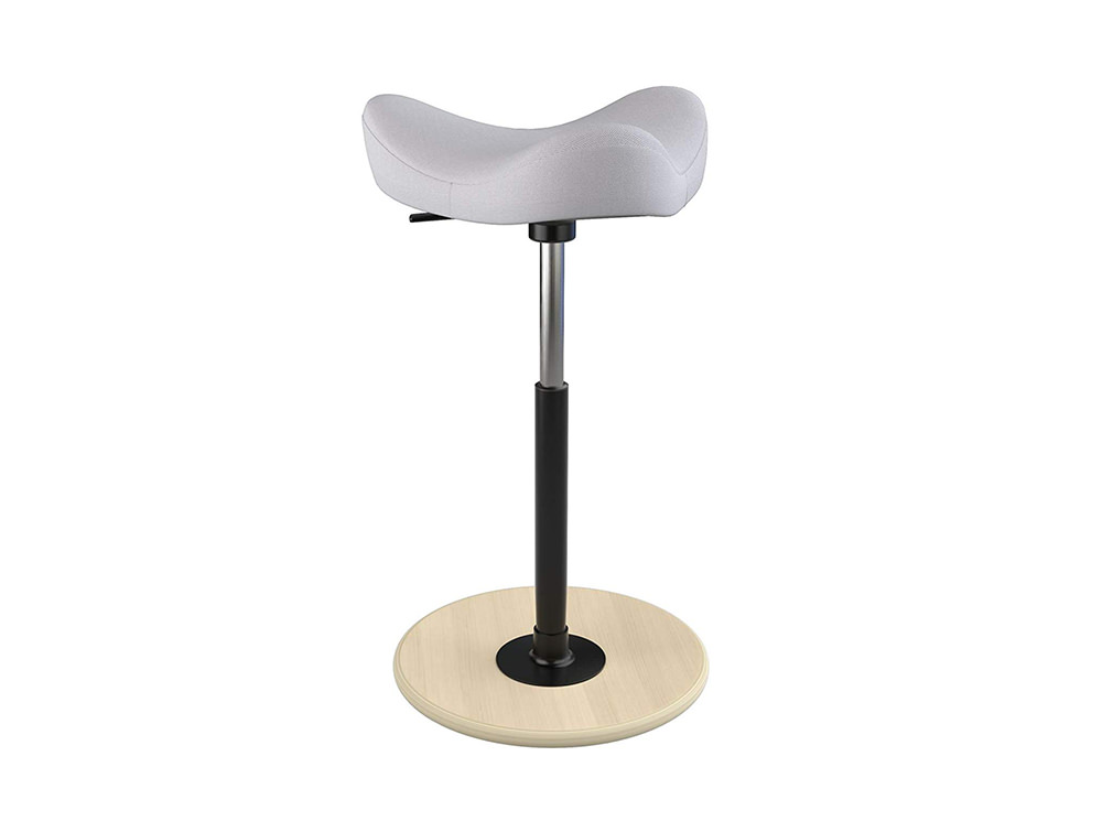 Varier-Move-Small-Sit-Stand-Stool-with-White-Seat-and-Wood-Finish-Base