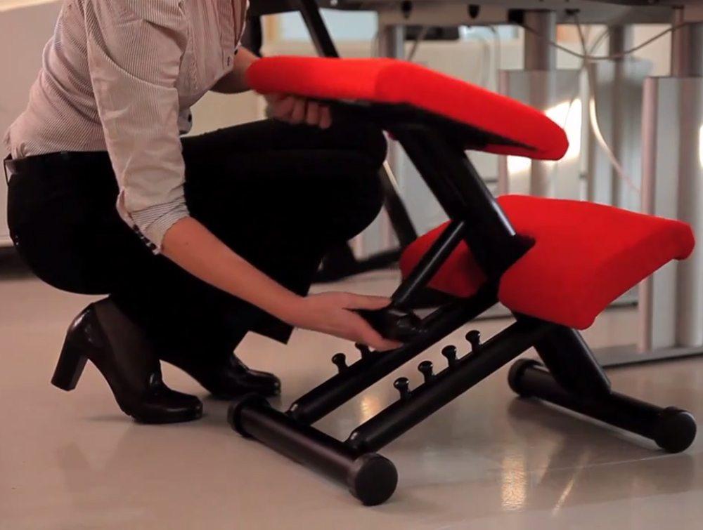 Varier Multi Balans Kneeling Chair adjustments