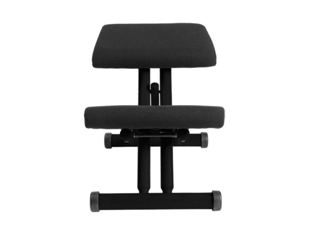 Varier Multi Balans Kneeling Chair in Black Lacquered Beech Front Angle