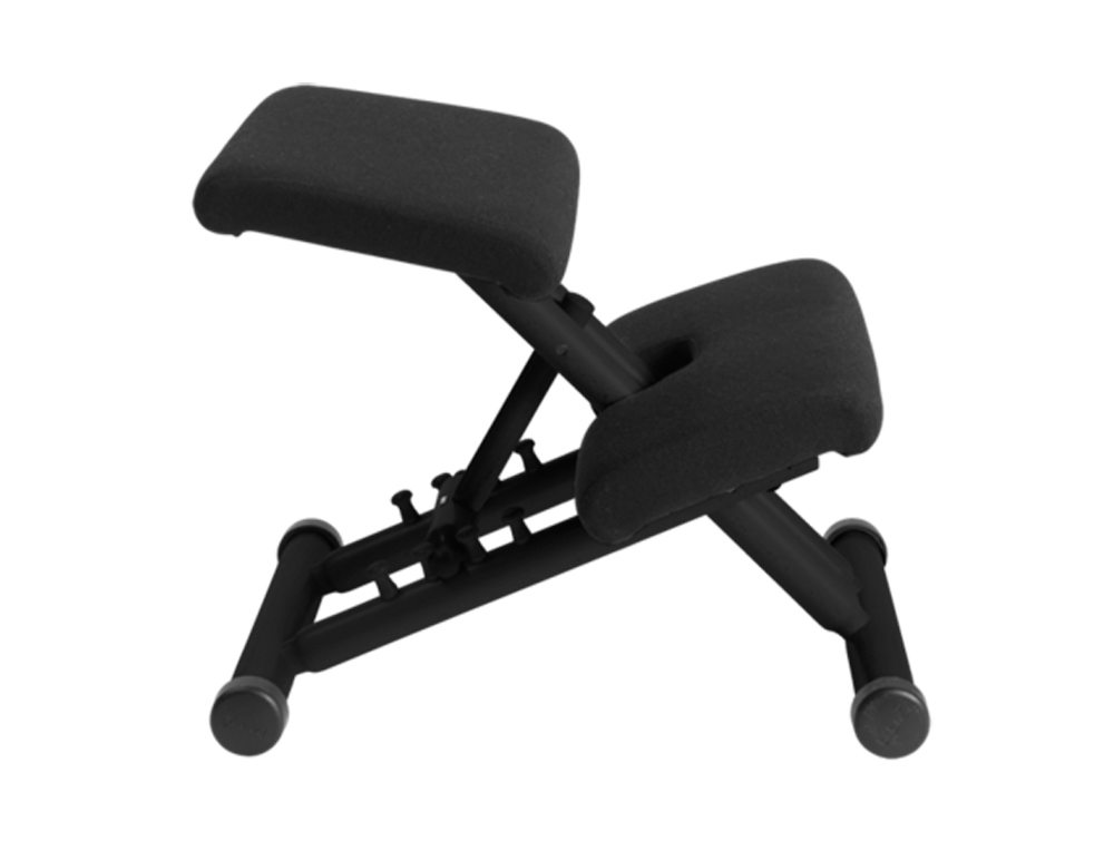 Varier Multi Balans Kneeling Chair in Black Lacquered Beech Side Angle