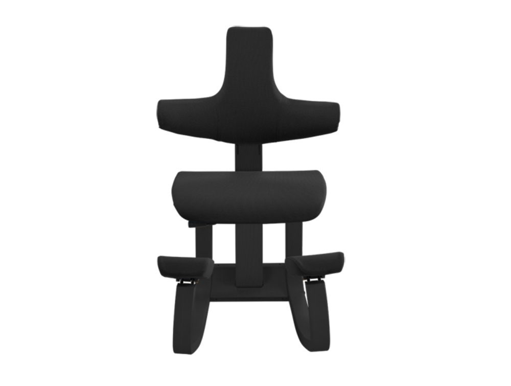 Varier Thatsit Balans Kneeling Chair in Black lacquered Ash Front Angle