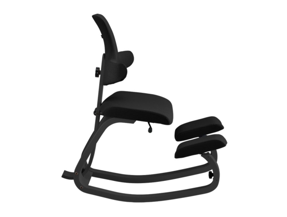 Varier Thatsit Balans Kneeling Chair in Black lacquered Ash Side Angle