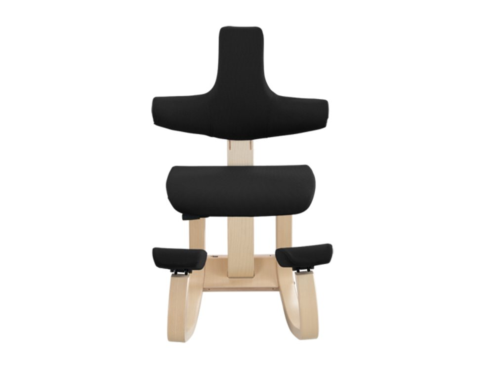 Varier Thatsit Balans Kneeling Chair in Natural lacquered Ash Front Angle