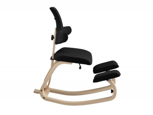 Varier Thatsit Balans Kneeling Chair in Natural lacquered Ash Side Angle