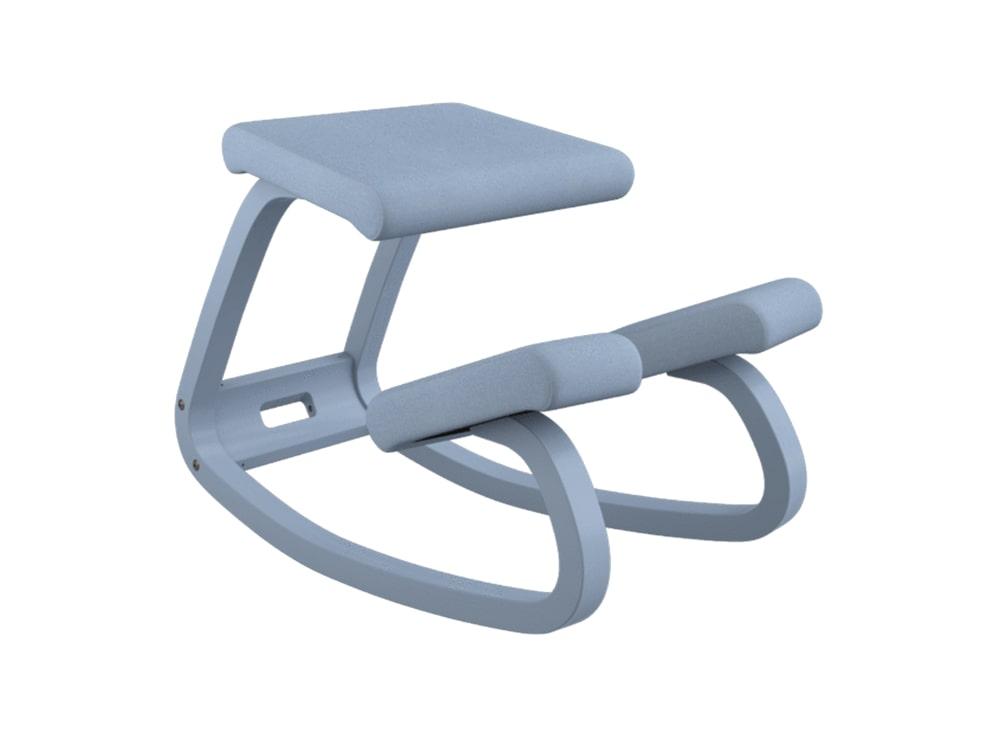 Varier Variable Monochrome Kneeling Chair in Stone