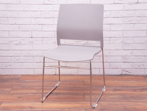 Verse-Multipurpose-Stacking-Chair-in-Grey-Front-View