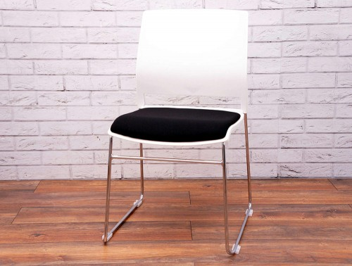 Verse-Multipurpose-Stacking-Chair-in-White-and-Black-Front-View