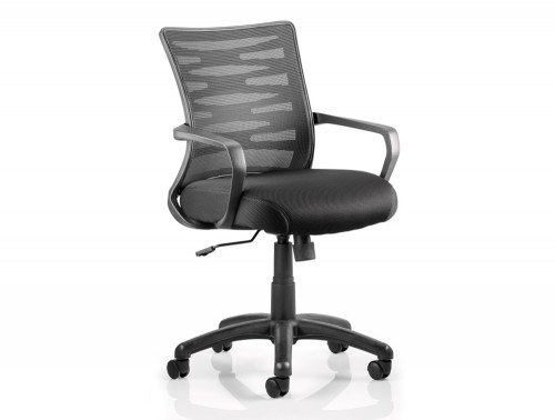 Vortex Task Operator Chair Black Mesh Back With Arms Featured Image