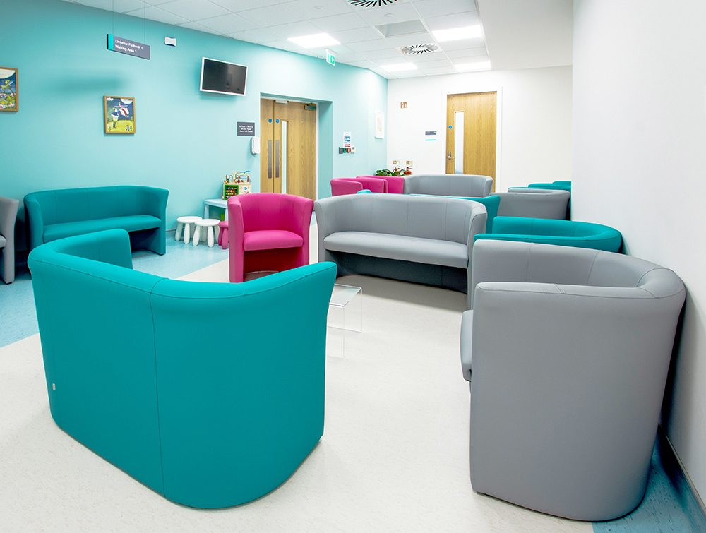 Waiting area with comfortable seats