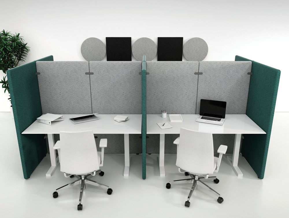 Wall Standing Acoustic Screen for Small Offices