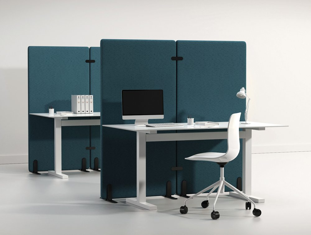 Wall Standing Acoustic Screen in an Office Environment