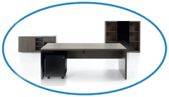 Walnut Executive Office Furniture Suite
