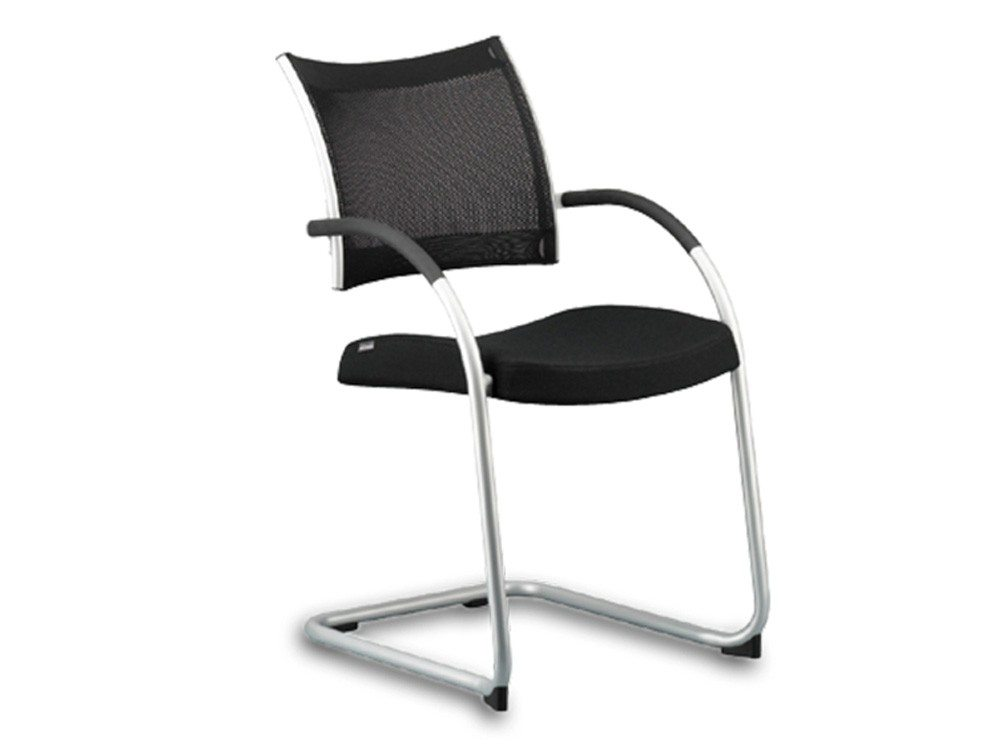 sc 1 st  Radius Office Furniture & Used Wiesner-Hager Point Mesh Cantilever Meeting Room Chair in Black
