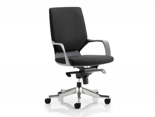 Xenon Executive Black Chair Black Fabric Medium Back With Arms Featured Image