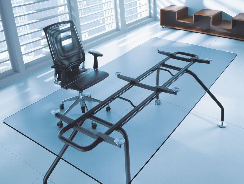 Xeon Executive Office Glass Desk