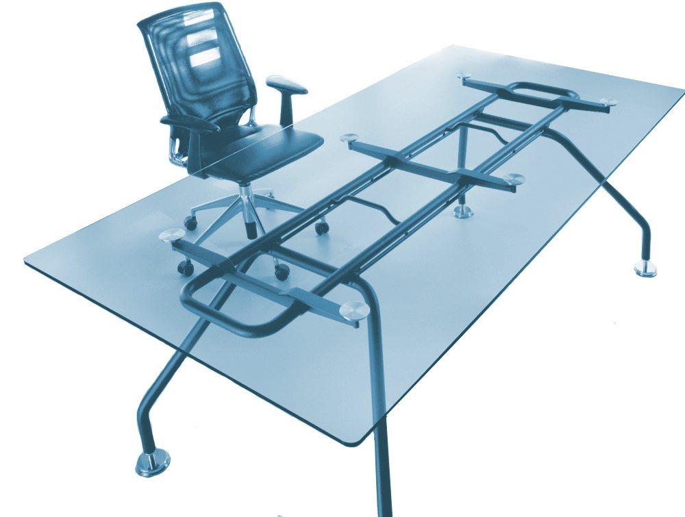 Balma Xeon Rectangular Executive Glass Meeting Table Radius