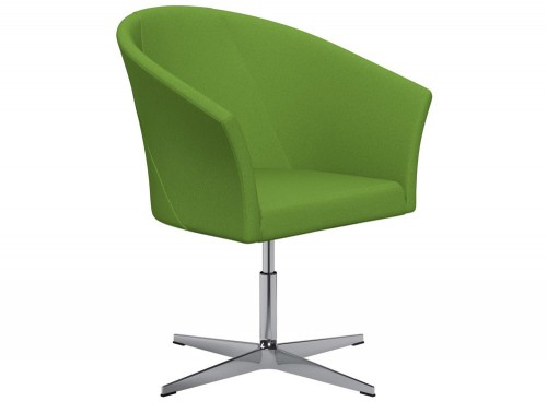 You 4-Star Base Swivel Armchair with Armrests E051 Green