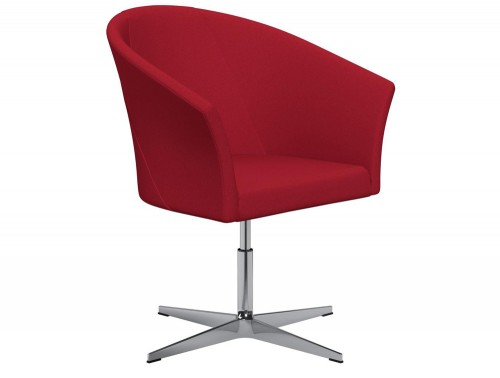 You 4-Star Base Swivel Armchair with Armrests E090 Red