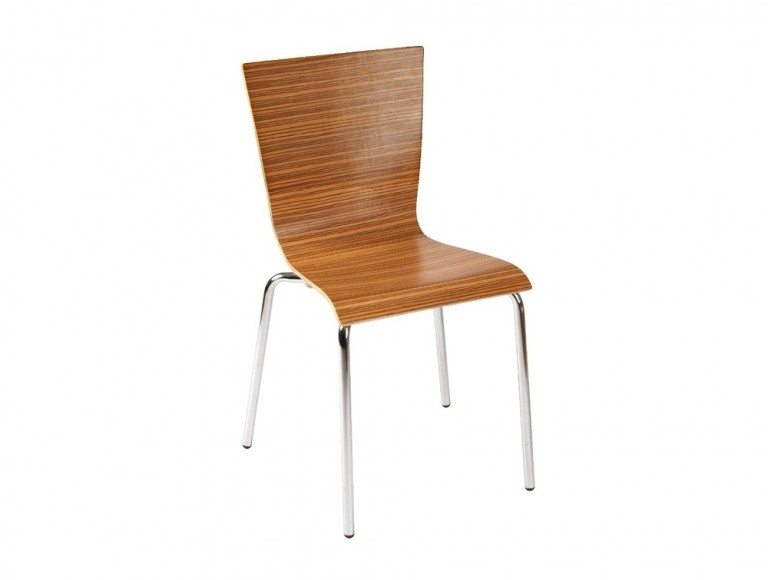 Z30 Groovy Stackable Chair in Zebrano
