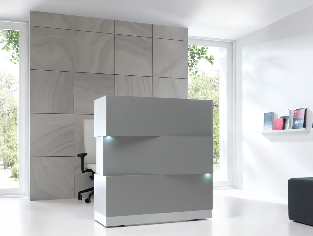 Zen Reception Unit in Grey