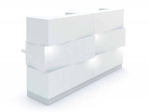 Zen Reception Unit in White