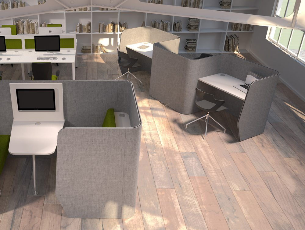 Zone 3-Person Desking Module