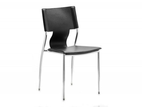 Zulu Visitor Chair Black Hard Pvc Featured Image