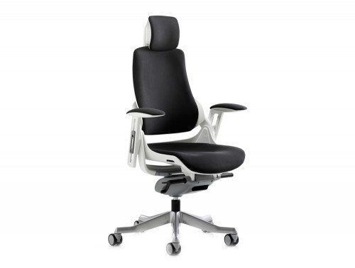 Zure Executive Chair Black Fabric With Arms With Headrest Featured Image
