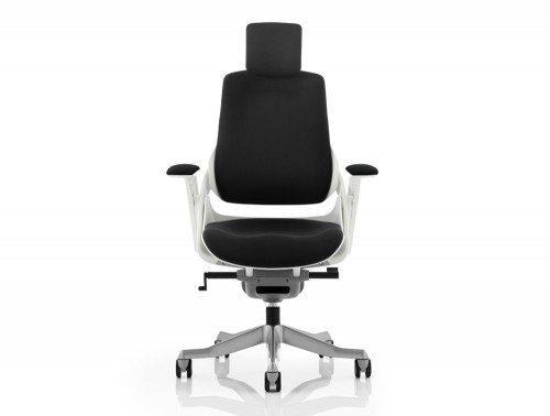 Zure Executive Chair Black Fabric With Arms With Headrest Image 2