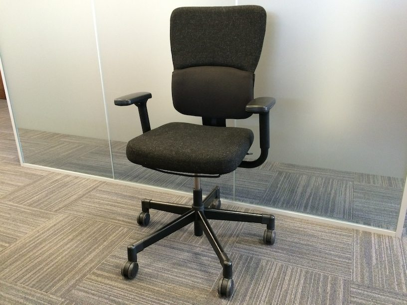 Used Steelcase Let S B Black Swivel Office Chair