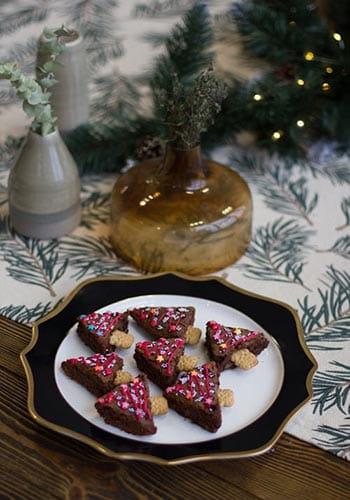 christmas treats on plate