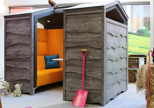 Huddle Rustic Meeting Pod Acoustic Qualities