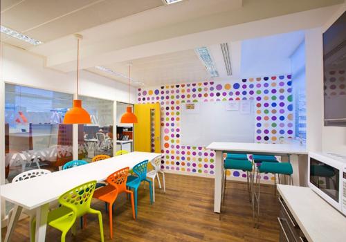 Multicoloured Polka Dot Office Canteen