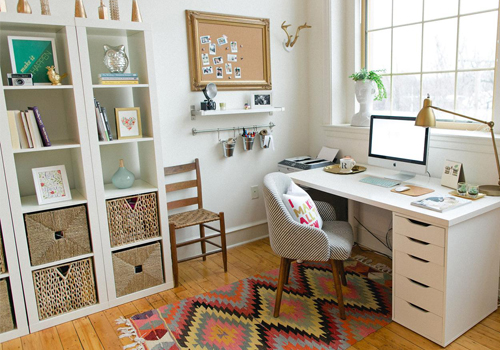 Modern and Bright Home Office Space