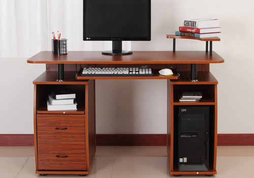 Multipurpose-wooden-computer-desk-with-cpu-holder-and-storage