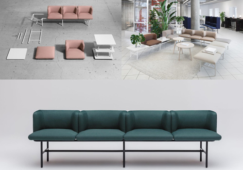 modular office chairs and sofa