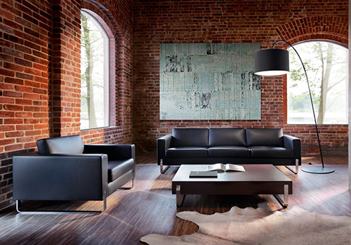 brick wall office space