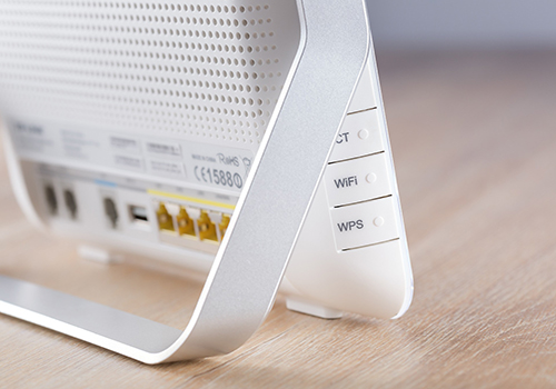 close up on wifi router