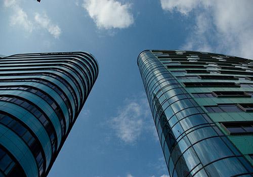 skyscraper glass buildings
